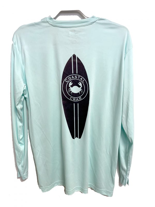 Adult Long Sleeve Performance T-shirt  Mist with Navy